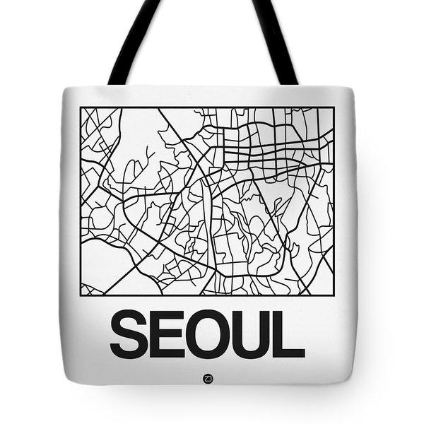 White Map Of Sao Paulo Tote Bag