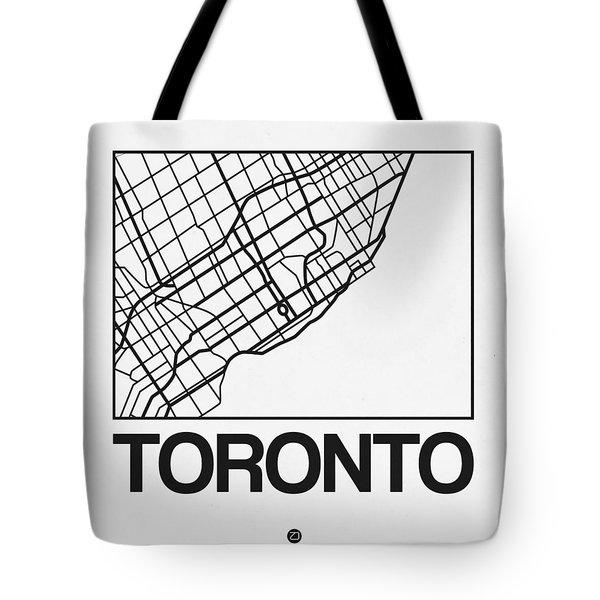 White Map Of Toronto Tote Bag