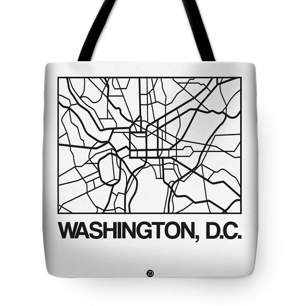 White Map Of Washington, D.c. Tote Bag