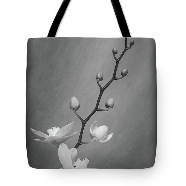 White Orchid Buds Tote Bag
