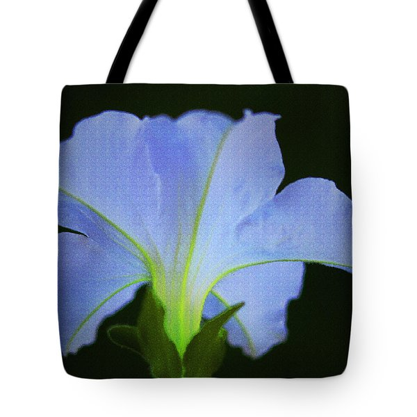 White Petunia Tote Bag