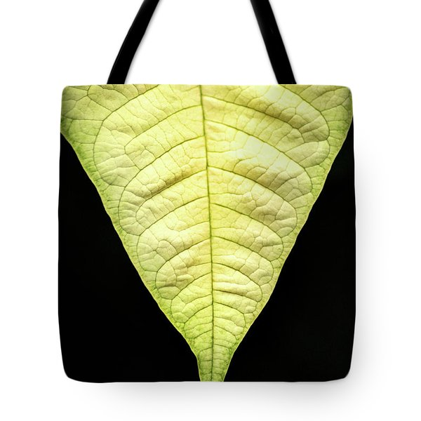 White Poinsettia Leaf Tote Bag