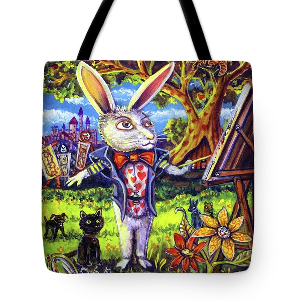 White Rabbit Alice In Wonderland Tote Bag