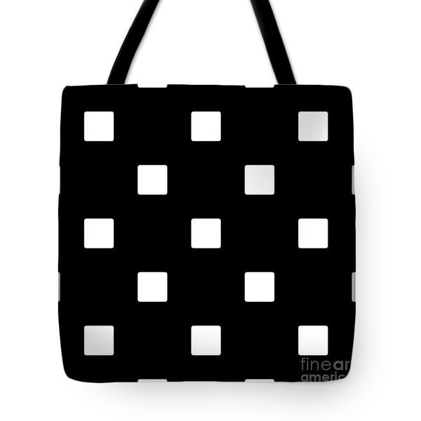 White Squares On A Black Background- Ddh576 Tote Bag