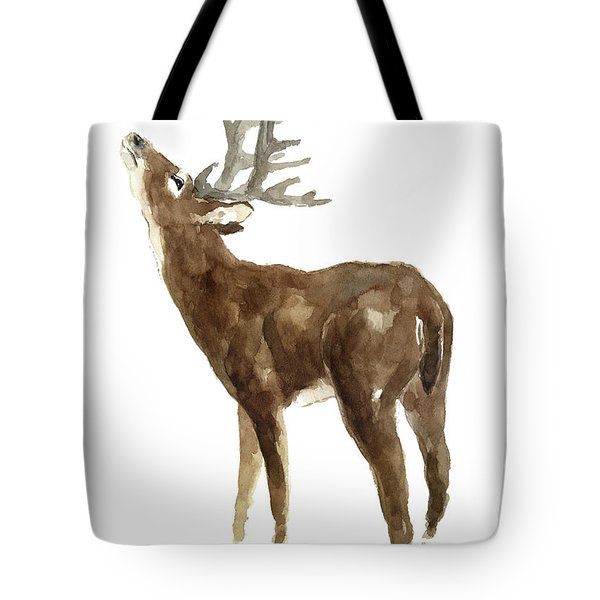 White Tailed Deer Stag With Head Tilted Upwards Tote Bag