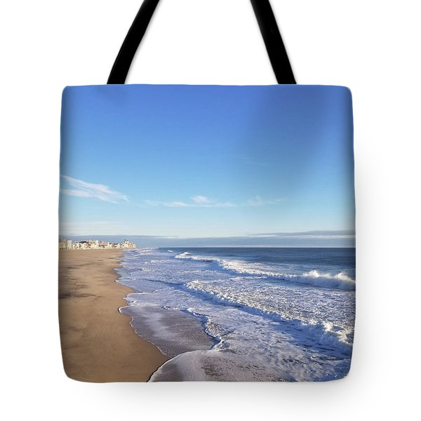 Tote Bag featuring the photograph White Waves by Robert Banach