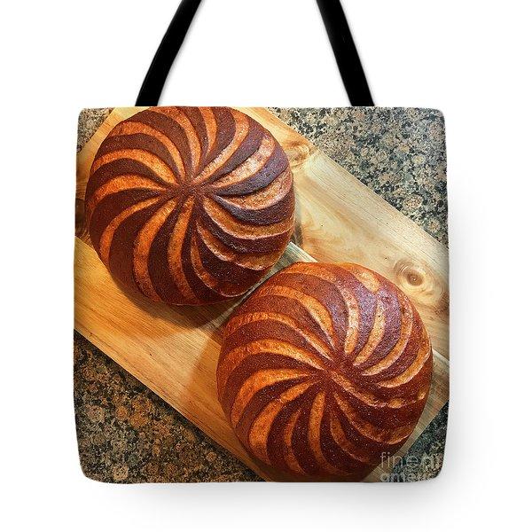Whole Wheat Sourdough Swirls Tote Bag