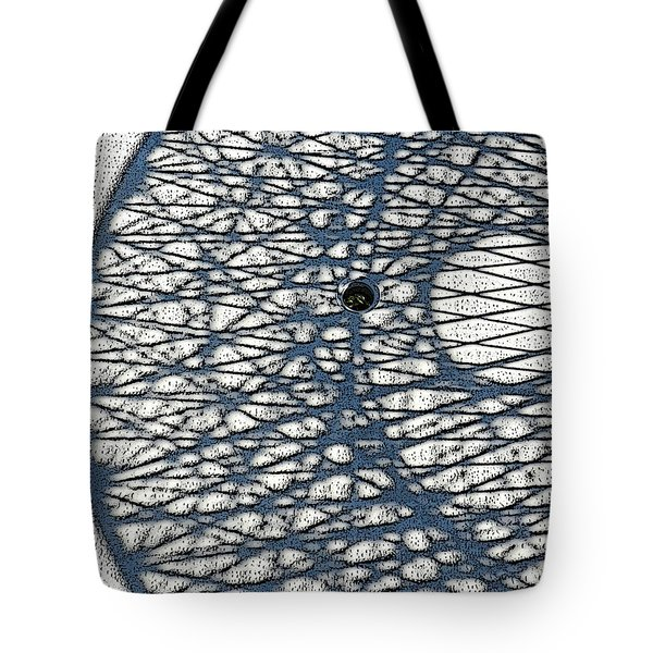 Tote Bag featuring the digital art Wicker Shadows by Sarajane Helm