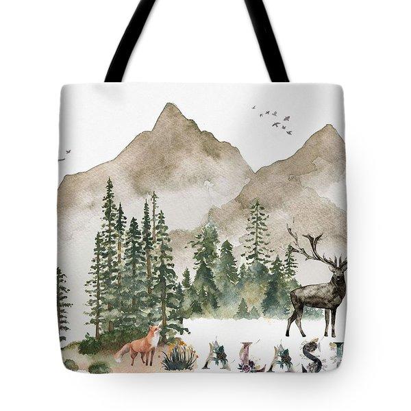 Wild Alaska Travel Poster Tote Bag