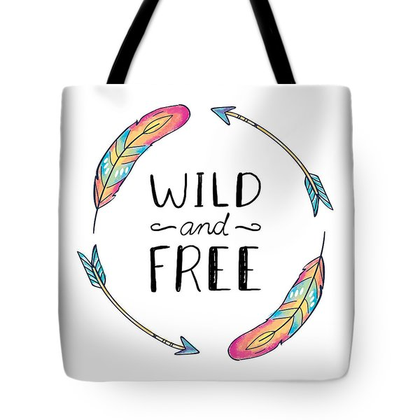 Wild And Free Colorful Feathers - Boho Chic Ethnic Nursery Art Poster Print Tote Bag