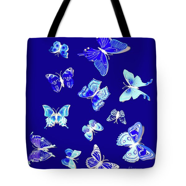 Wild Blue Spring Tote Bag