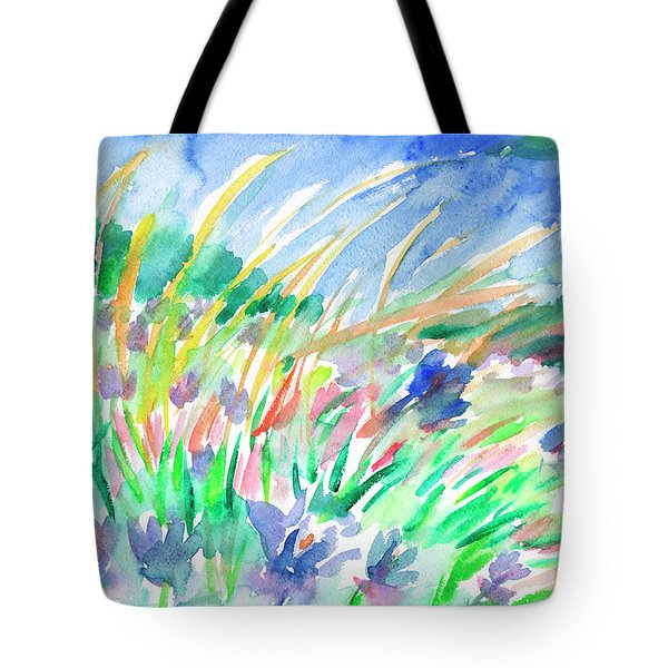Tote Bag featuring the painting Wild Herbs by Dobrotsvet Art