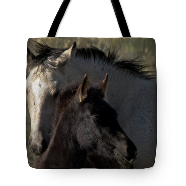 Tote Bag featuring the photograph Wild Mustangs Of New Mexico 4 by Catherine Sobredo