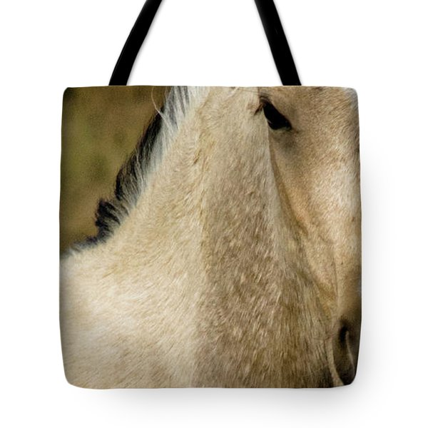 Tote Bag featuring the photograph Wild Mustangs Of New Mexico 5 by Catherine Sobredo