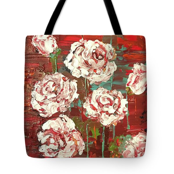 Tote Bag featuring the painting Wild Whites  by Elizabeth Mundaden