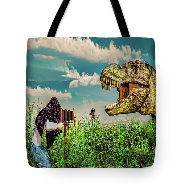 Tote Bag featuring the digital art Wildlife Photographer  by Bob Orsillo