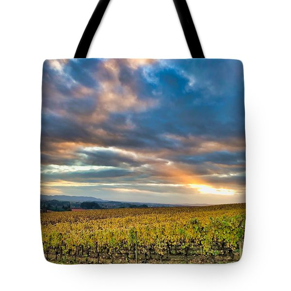 Willamette Valley In Fall Tote Bag