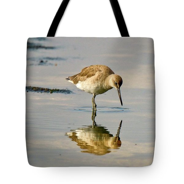 Willet Sees Its Reflection Tote Bag