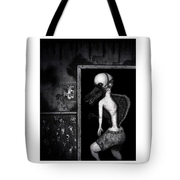 Tote Bag featuring the drawing William The Flesheater - Artwork by Ryan Nieves
