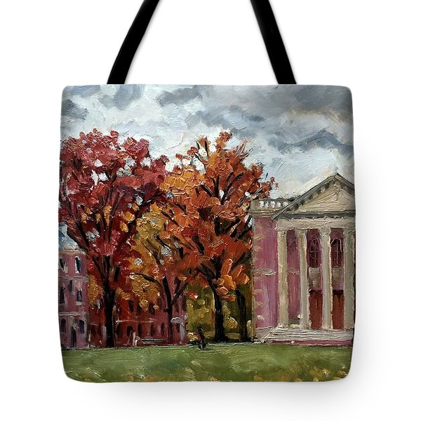 Williams College Rainy Autumn Tote Bag