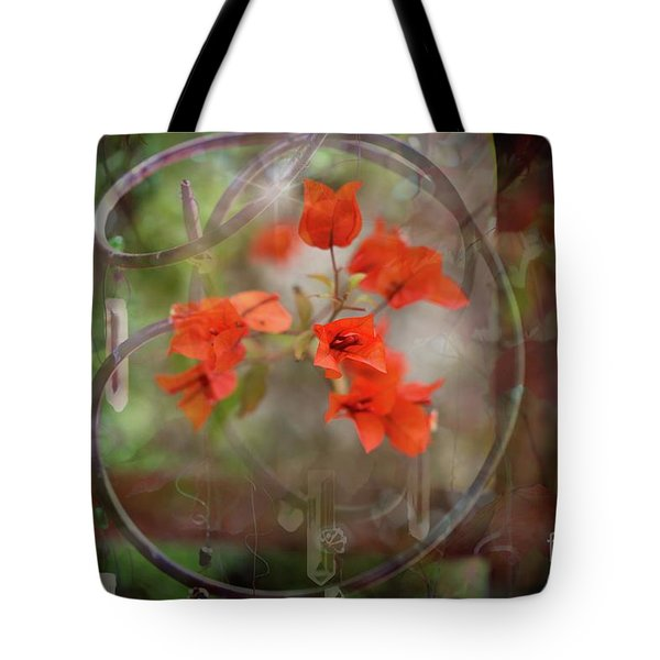 Wind Chimes Through The Window Tote Bag