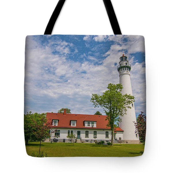 Wind Point Lighthouse  Tote Bag