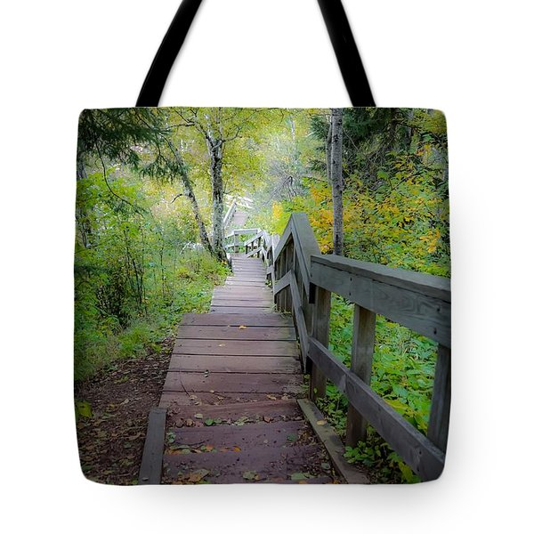 Winding Stairs In Autumn Tote Bag
