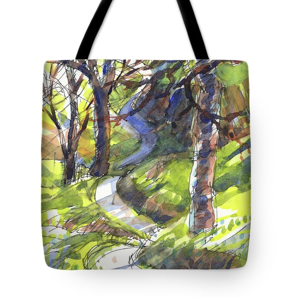Tote Bag featuring the painting Winding Trail by Judith Kunzle