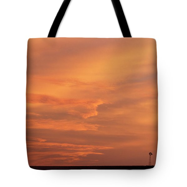 Tote Bag featuring the photograph Windmill And Afterglow 02 by Rob Graham