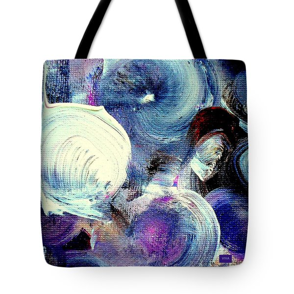 Tote Bag featuring the painting Windmills Of My Mind by VIVA Anderson