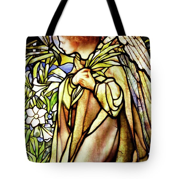 Window Depicting A Kneeling Angel Tote Bag
