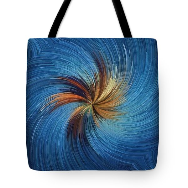 Tote Bag featuring the digital art Windy Palms by David Manlove