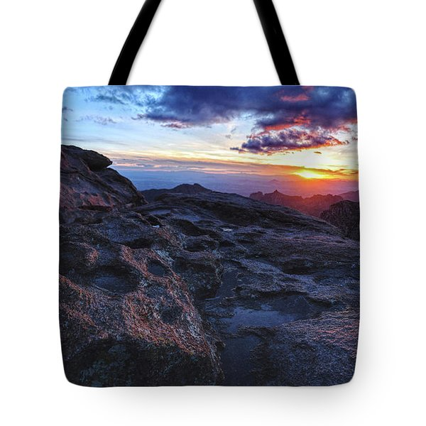 Windy Point Sunset Tote Bag