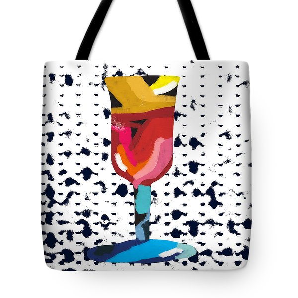 Wine And Matzo- Art By Linda Woods Tote Bag