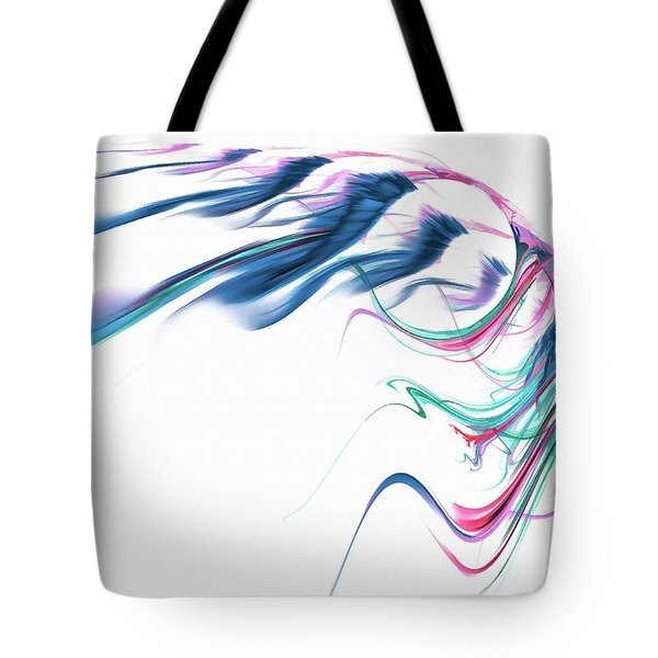 Wing Of Beauty Art Abstract Blue Tote Bag
