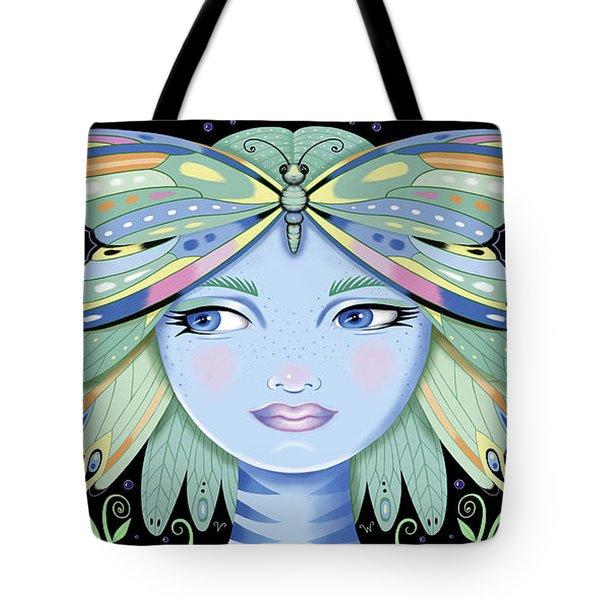 Insect Girl, Winga - Black Tote Bag