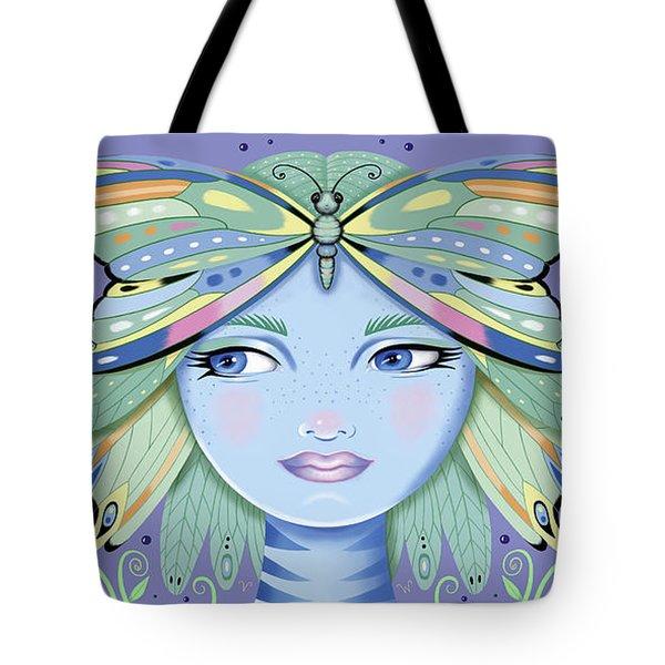 Insect Girl, Winga - Purple Tote Bag