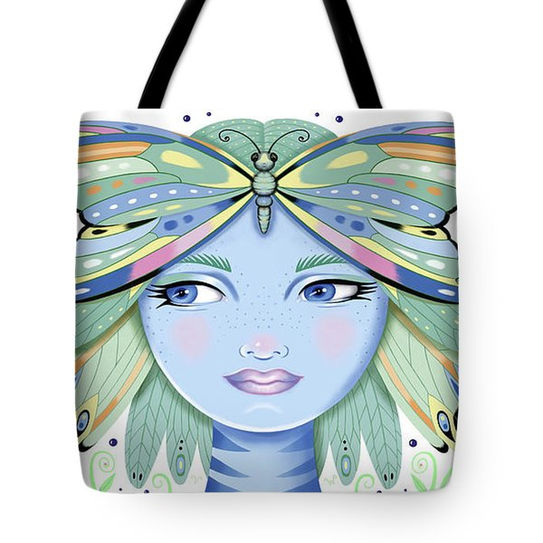 Insect Girl, Winga - White Tote Bag