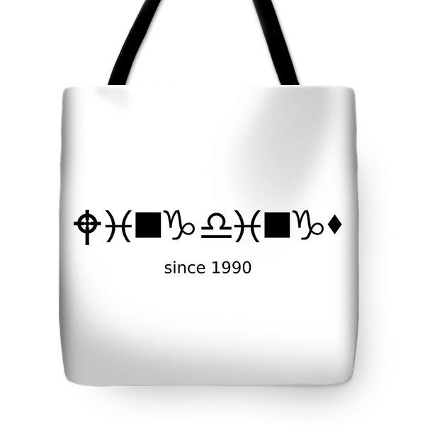 Wingdings Since 1990 - Black Tote Bag