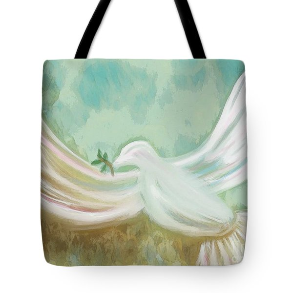 Wings Of Peace Tote Bag