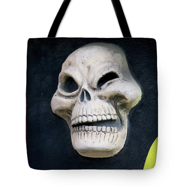 Winking Skull Tote Bag