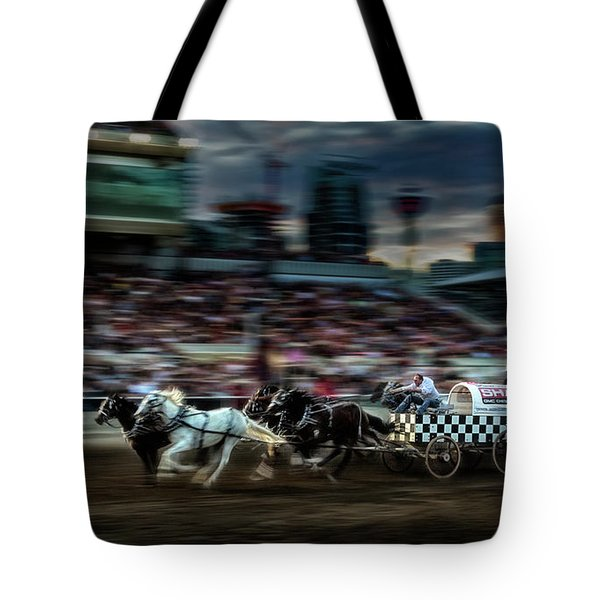 Tote Bag featuring the photograph Winning Finish by Brad Allen Fine Art