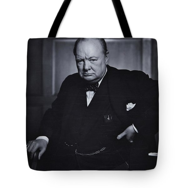 Winston Churchill In The Canadian Parliament Tote Bag