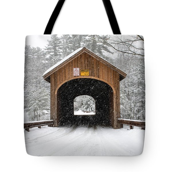 Winter At Babb's Bridge Tote Bag