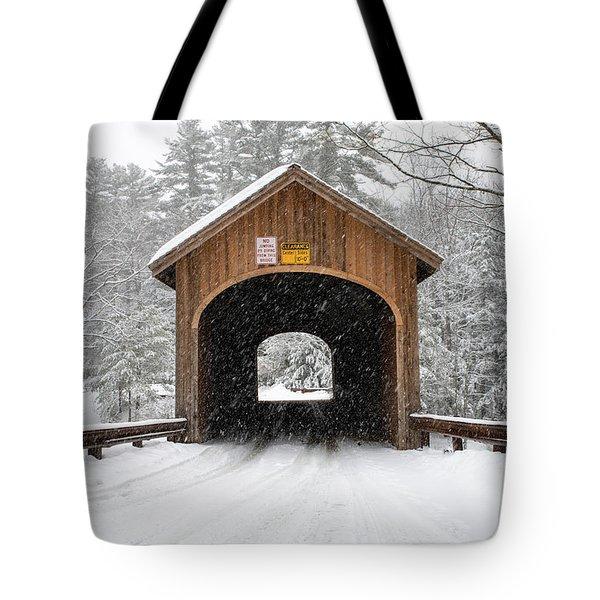 Winter At Babb's Bridge Tote Bag