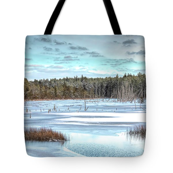 Tote Bag featuring the photograph Winter At Lake Oswego by Kristia Adams