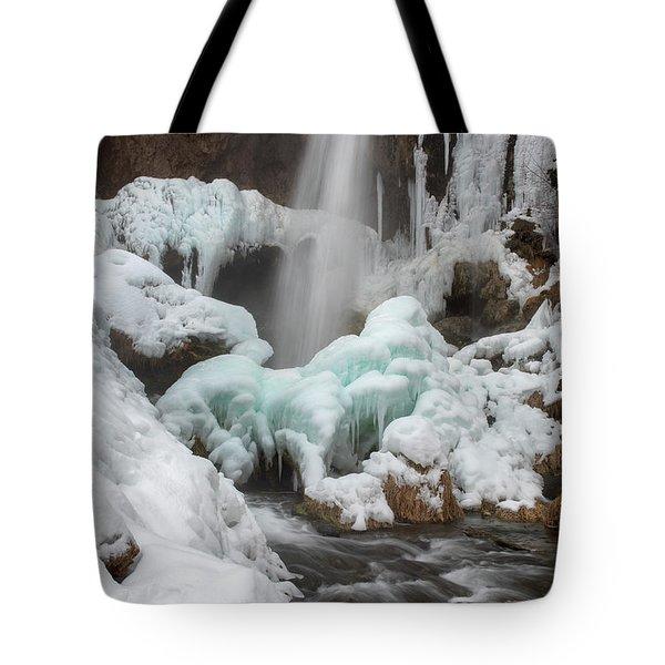 Winter At Rifle Falls Colorado Tote Bag