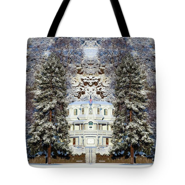 Winter At The Susanville Elks Lodge Tote Bag