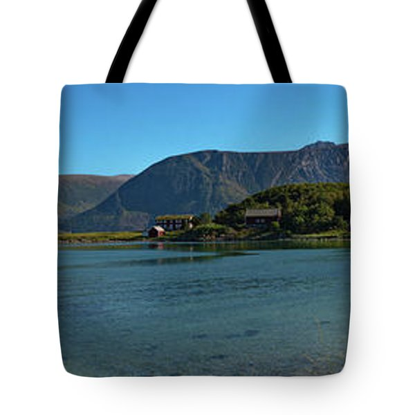 Winter Beach In Norway Tote Bag