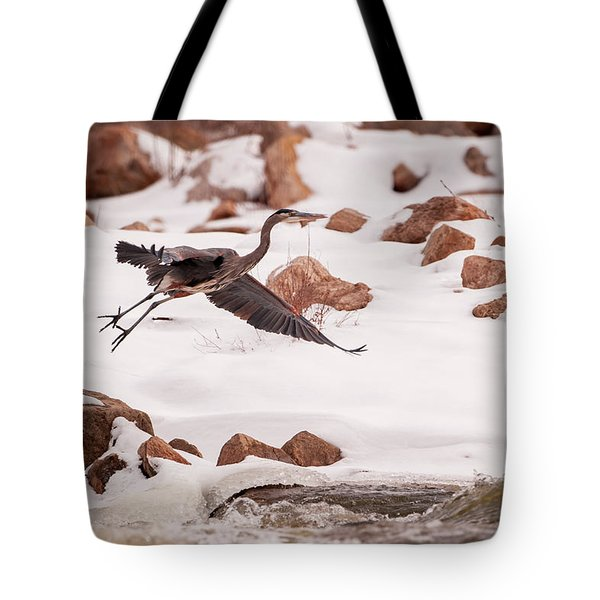 Tote Bag featuring the photograph Winter Blue by Jeff Phillippi
